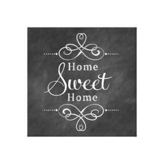 Home Sweet Home Canvas Wall Art Stretched Canvas Print