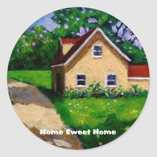 HOME SWEET HOME COUNTRY COTTAGE CLASSIC ROUND STICKER
