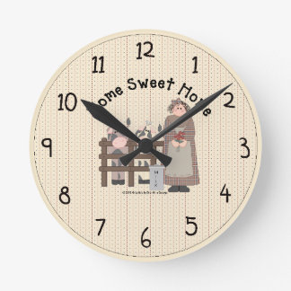 Home Sweet Home Country Wall Clock