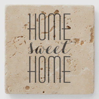 Home Sweet Home Custom Color Stone Coaster