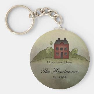 Home Sweet Home Custom Name Keychain