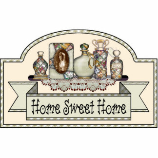 """Home Sweet Home"" - Decorative Door Sign Photo Sculpture Ornament"
