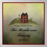 Home Sweet Home Family Name Wall Print