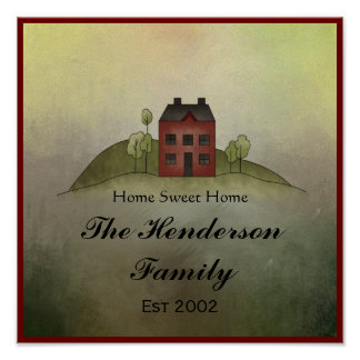 Home Sweet Home Family Name Wall Print