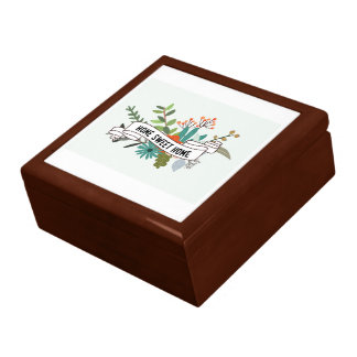 Home Sweet Home Floral Rectangle-01 Gift Box