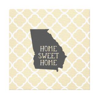 Home Sweet Home Georgia Canvas Print