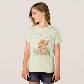"""Home Sweet Home""  Girls Organic T shirt"