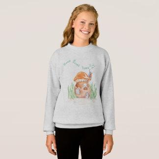 """Home Sweet Home""  Girls Sweatshirt Grey"
