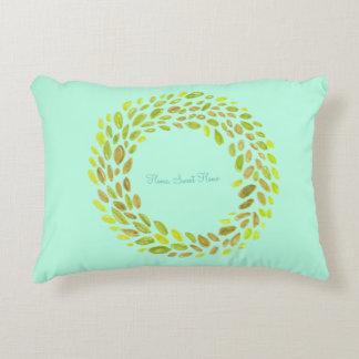 Home, sweet Home green pillow