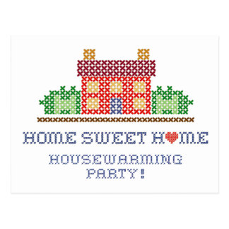 Home Sweet Home Housewarming Party Postcard