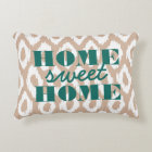Home Sweet Home Ikat Ogee Accent Pillow