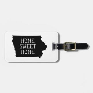Home Sweet Home Iowa Luggage Tag