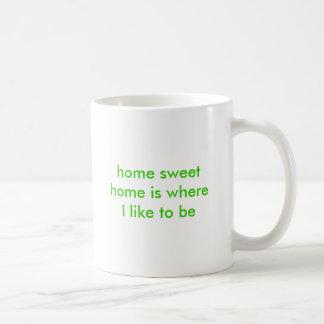 home sweet home is where I like to be Mugs