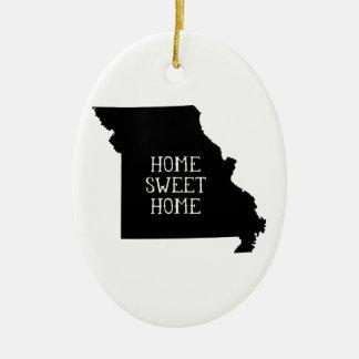Home Sweet Home Missouri Ceramic Ornament