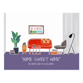 HOME SWEET HOME _  Moving Announcement Postcard