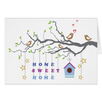 Home sweet home moving in couples greeting card