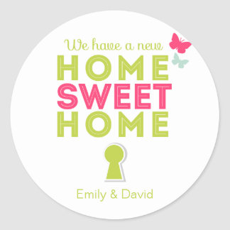 Home Sweet Home {new home} Cupcake Toppers/Sticker Round Sticker