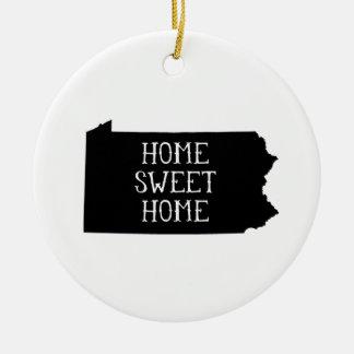 Home Sweet Home Pennsylvania Ceramic Ornament