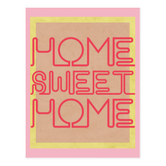 HOME SWEET HOME POSTCARD