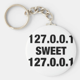 Home Sweet Home PRogrammer Basic Round Button Keychain
