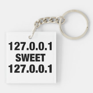 Home Sweet Home PRogrammer Double-Sided Square Acrylic Keychain