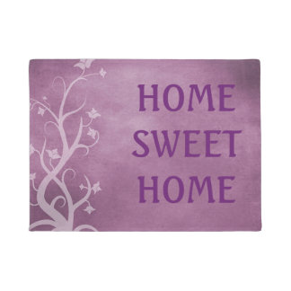 Home Sweet Home Purple Mystical Tree Door Mat
