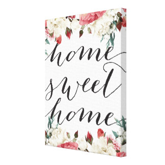 Home Sweet Home Quote Wrapped Canvas Home Decor Gallery Wrap Canvas