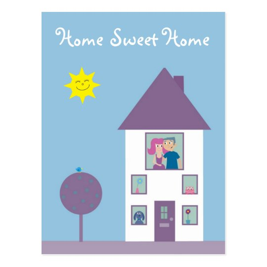 Home Sweet Home Real Estate Agent Or We've Moved Postcard