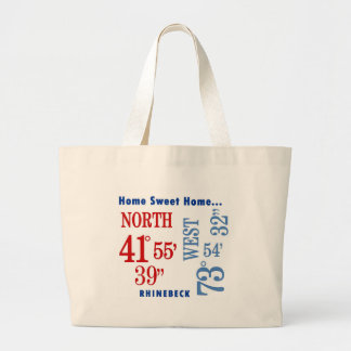 home sweet home Rhinebeck nautical Large Tote Bag