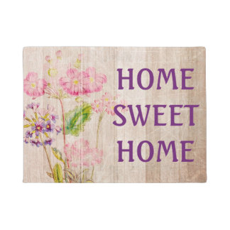 Home Sweet Home Rustic Floral Door matt Doormat