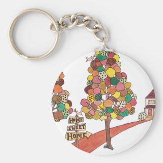 Home Sweet Home - Section Square Basic Round Button Keychain