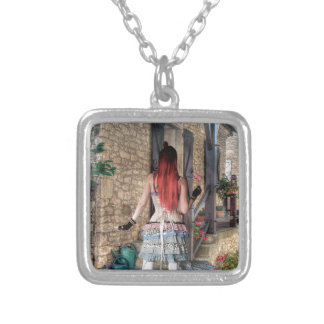 HOME SWEET HOME SILVER PLATED NECKLACE