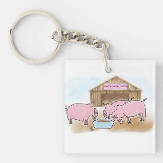 Home Sweet Home Single-Sided Square Acrylic Keychain