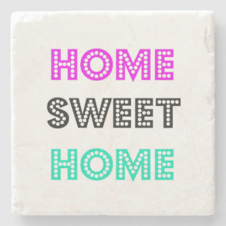 Home Sweet Home Square Marble Coaster