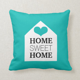 HOME SWEET HOME Tiffany Blue & Black Pillow