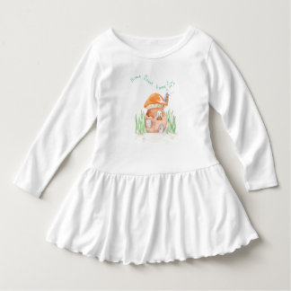 """Home Sweet Home""  Toddler Ruffle Dress"