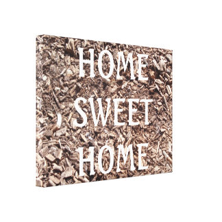Home Sweet Home, Tree Bark, Nature, Trees Canvas Canvas Prints