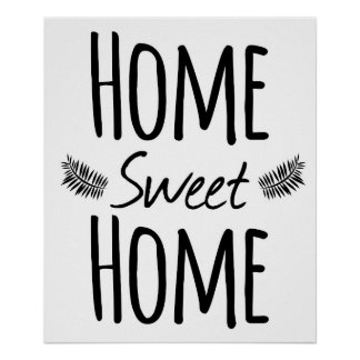 Home Sweet Home Typography Poster