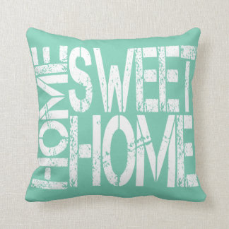 Home Sweet Home Typography Throw Pillow