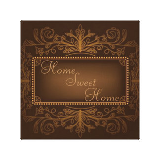 Home Sweet Home Wall Decor Gallery Wrapped Canvas
