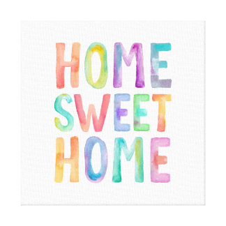 HOME SWEET HOME WATERCOLOR | CANVAS CANVAS PRINTS