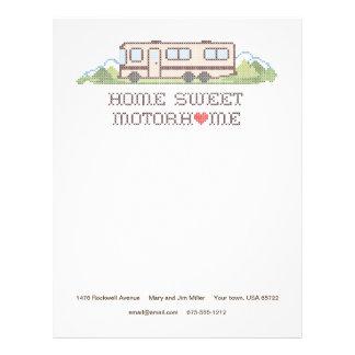 Home Sweet Motor Home, Class A Fun Road Trip Letterhead