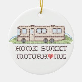 Home Sweet Motor Home, Class A Fun Road Trip Round Ceramic Ornament
