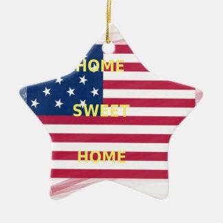 Home Swet Home Ceramic Star Ornament