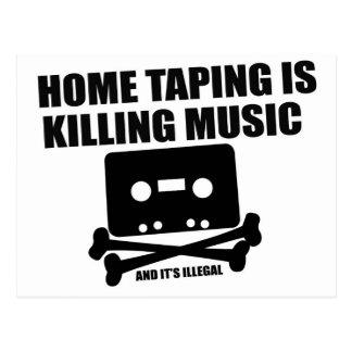 Home Taping is Killing Music! Postcard
