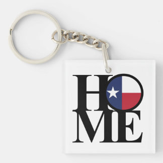 HOME Texas Lone Star Keychain Small Square