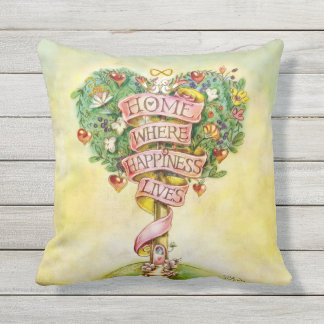 HOME-Tree of Love Outdoor Pillow