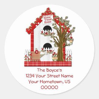 Home Tweet Home Address Sticker