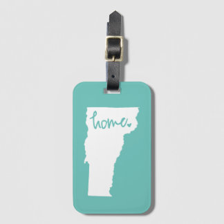 Home Vermont Custom Color Luggage Tag