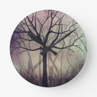 Home Wall Clock Tree Art Twilight
